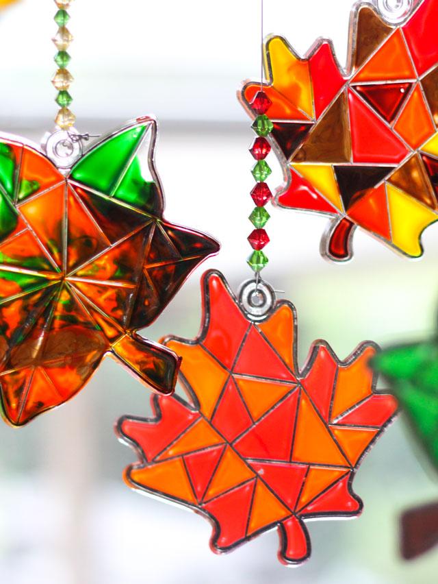 Make a Fall Leaf Suncatcher Mobile