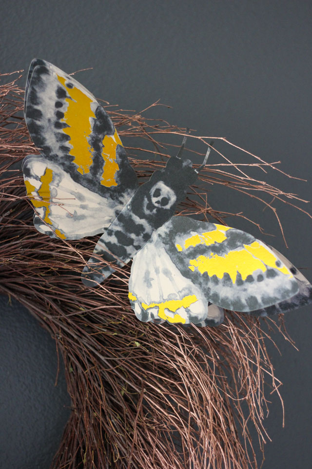 Martha Stewart giant moths Halloween decor