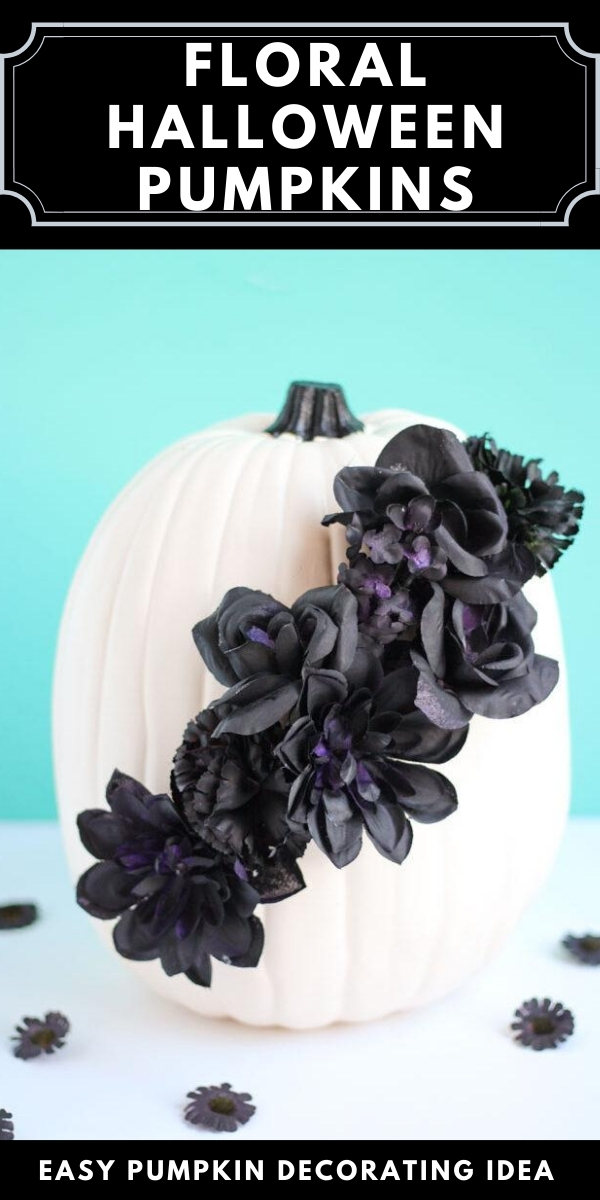 Black Floral Halloween Pumpkins
