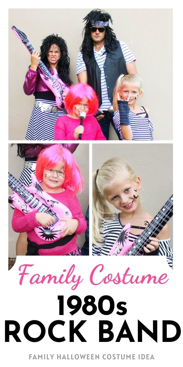 80s Rock Band Family Halloween Costume Idea