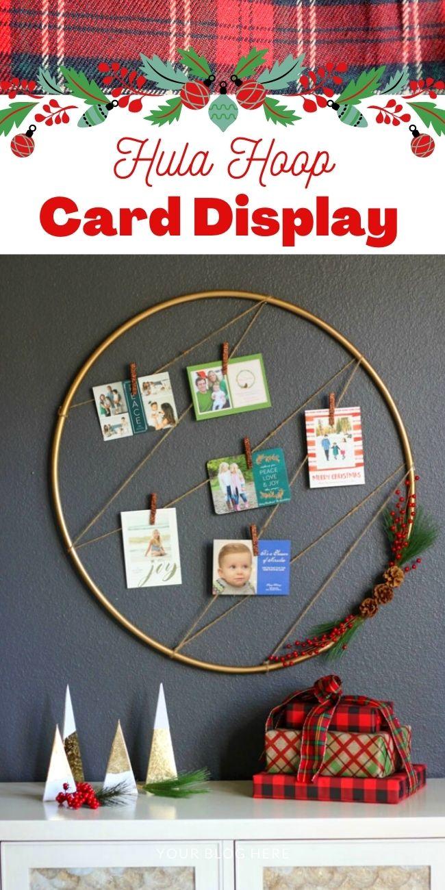 Hula Hoop Christmas Card Display