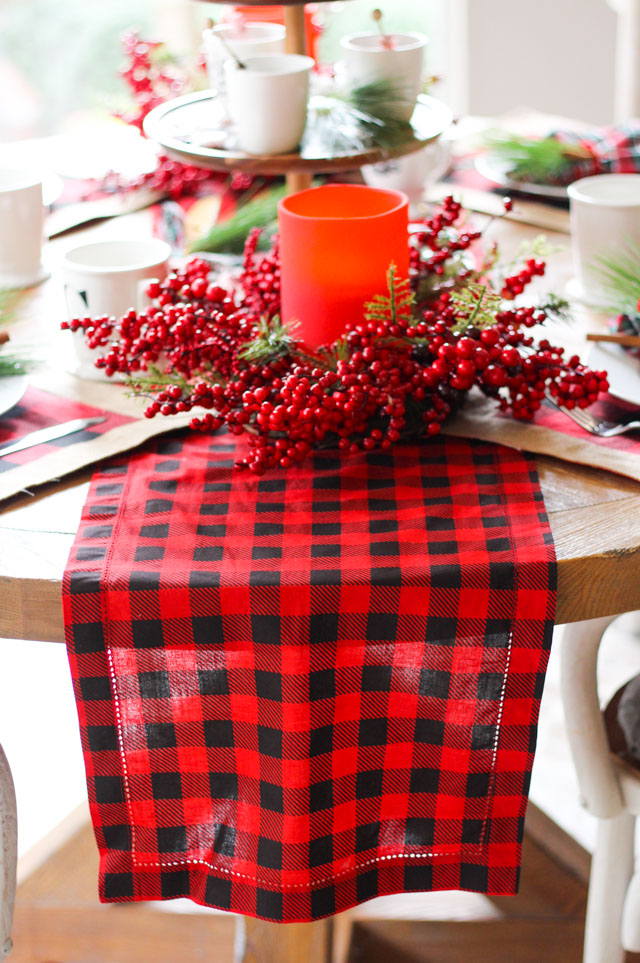 Buffalo check plaid table runner from Tuesday Morning