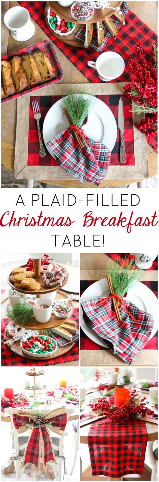 How to create a special Christmas breakfast table with plaid decor!
