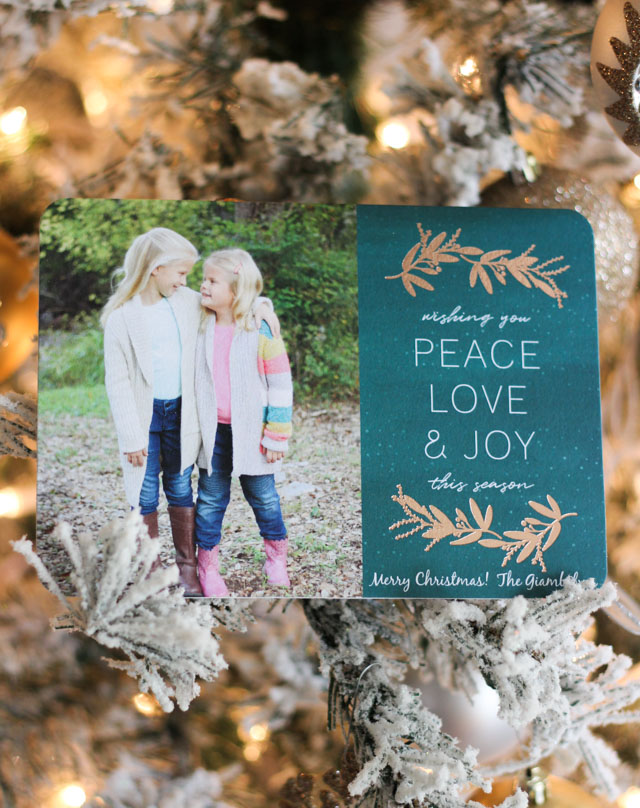Check out our gold foil holiday cards from Mixbook!