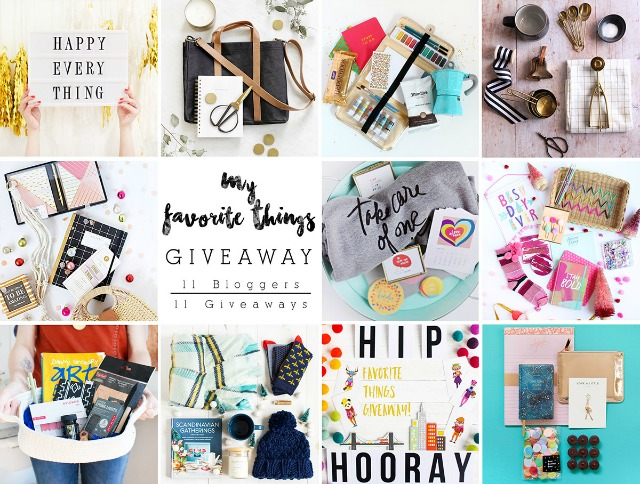 It's a My Favorite Things Giveaway!