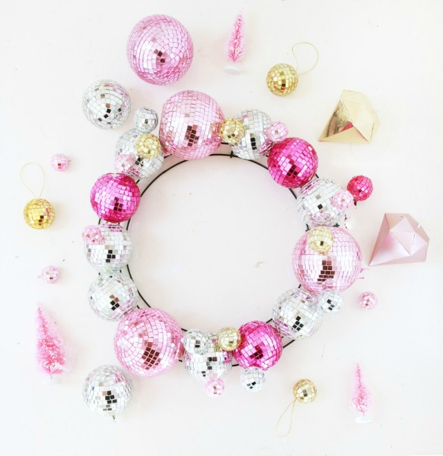 Disco Ball Christmas Wreath