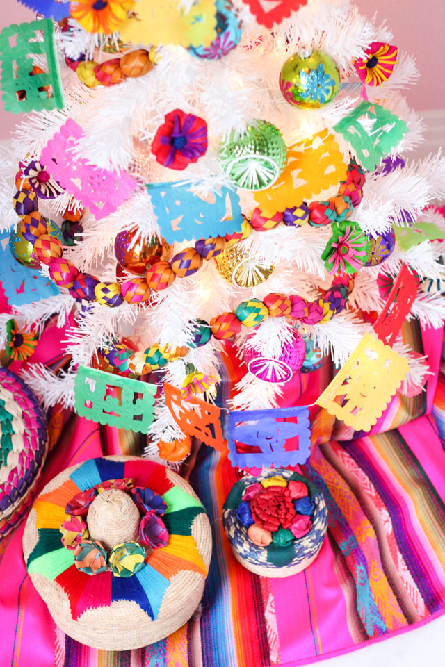 Fiesta Christmas tree decorating ideas
