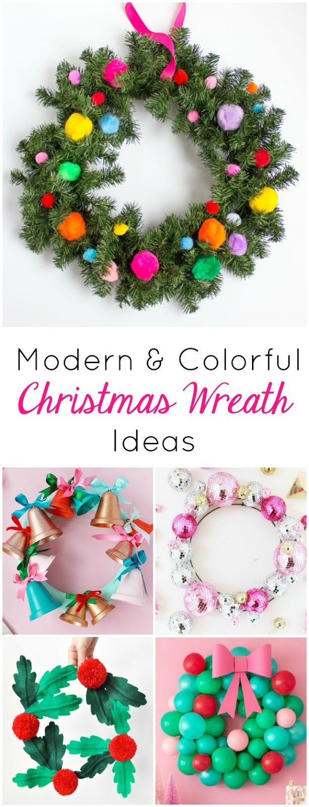 Check out these 12 gorgeous DIY Christmas wreath crafts - all modern, colorful, and totally unique!