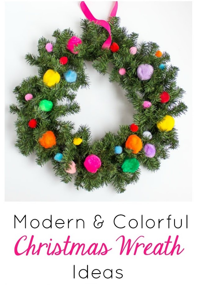 12 Modern Christmas Wreath Ideas