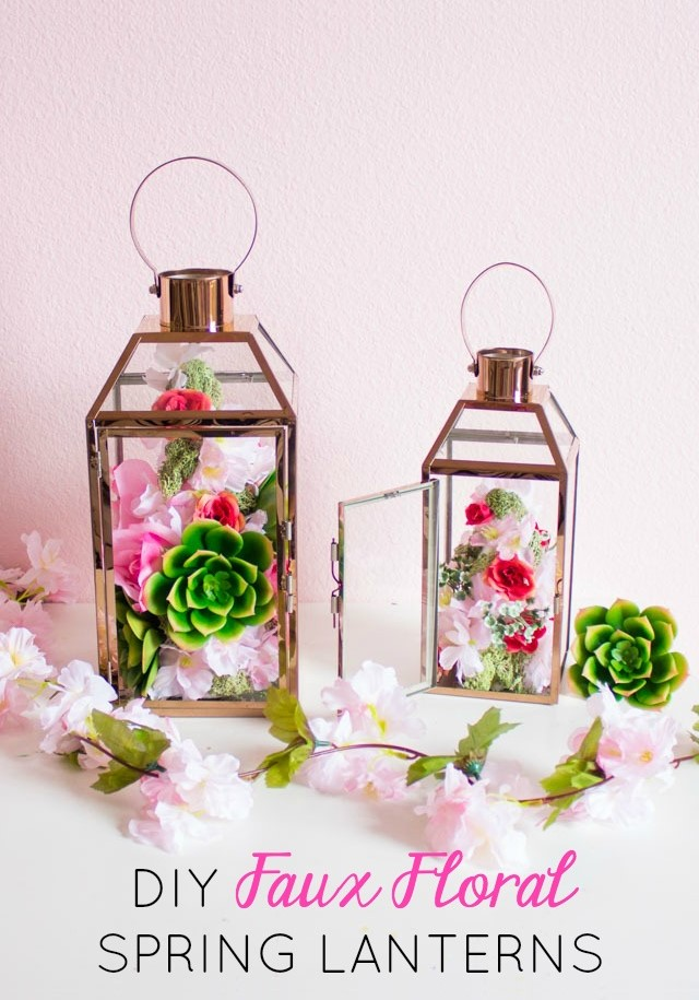 Easy Spring Floral Lanterns