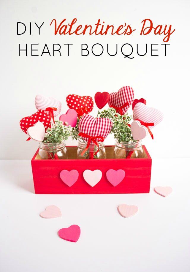 DIY Valentine Heart Bouquet