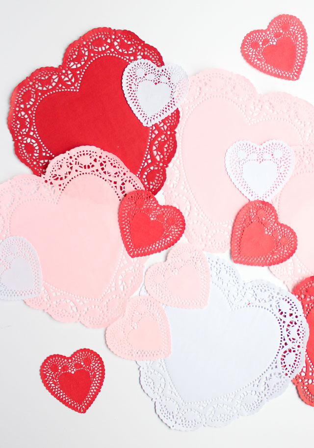 Check out these 10 clever ways to use paper heart doilies in your Valentine's Day crafts!
