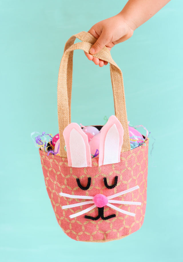 DIY Easter bunny basket idea
