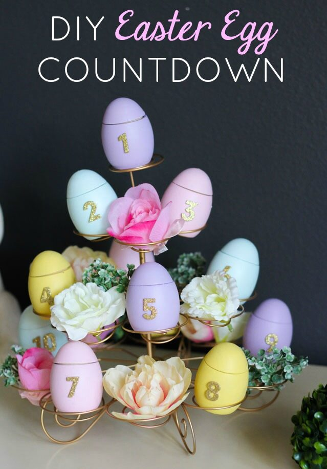 How to make an easter countdown calendar