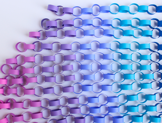 Ombre paper chains