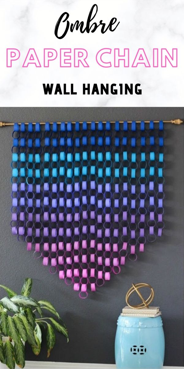 How to make a paper chain wall hanging