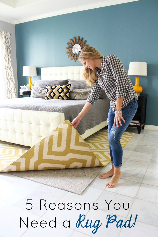Helpful tips for choosing rug pads for your area rugs! #arearug #rugpad #hometips #springcleaning
