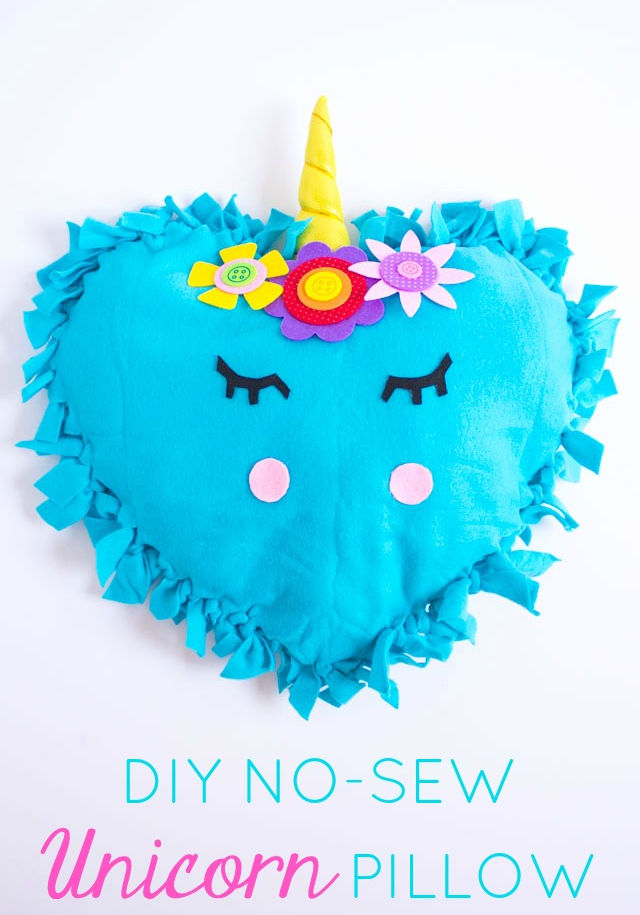 Unicorn Week: No Sew Unicorn Pillows