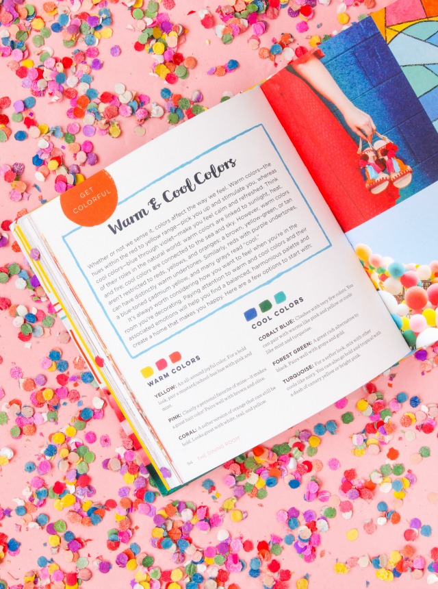 Check out this color-packed new DIY home decor book - Hello Color by Rachel Mae Smith!
