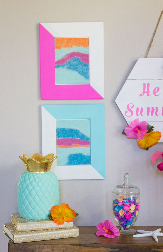 DIY Modern Sand Art Craft #sandart #sandartcrafts #sandcrafts #summercrafts