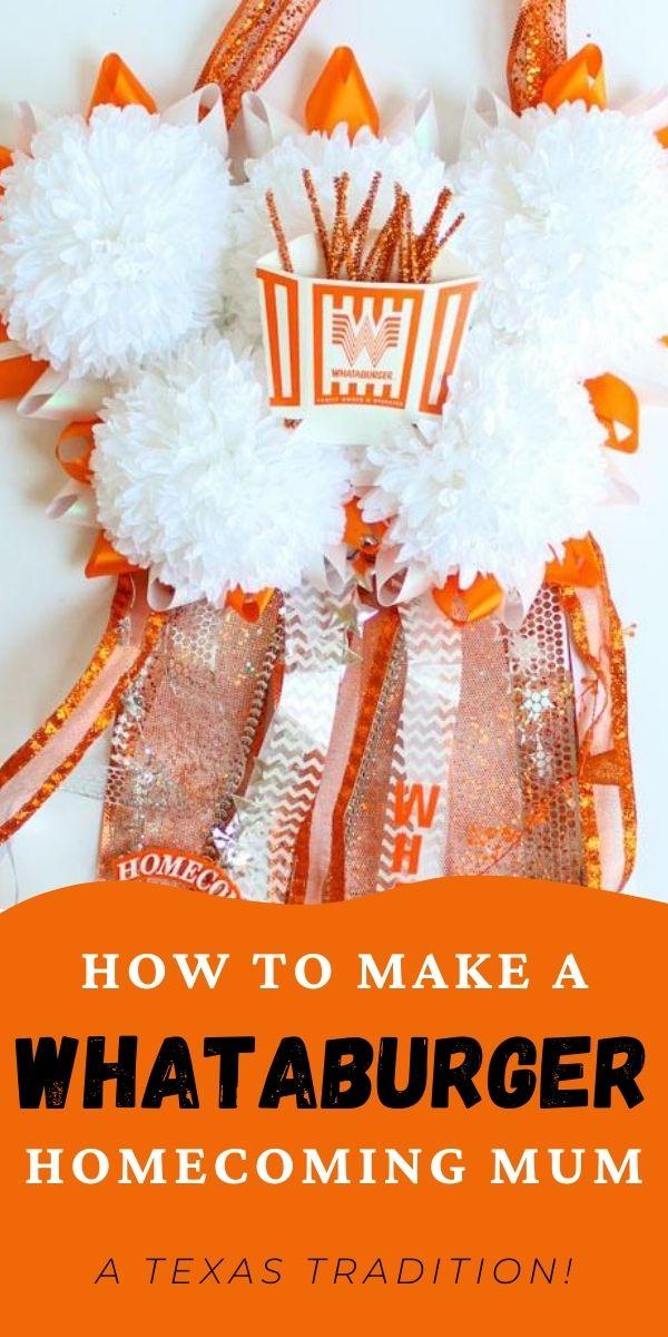 DIY Whataburger Mum for High School Homecoming