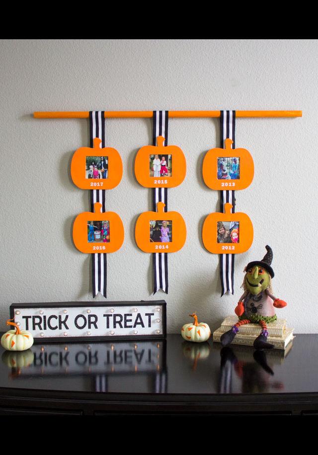 DIY Halloween Photo Display