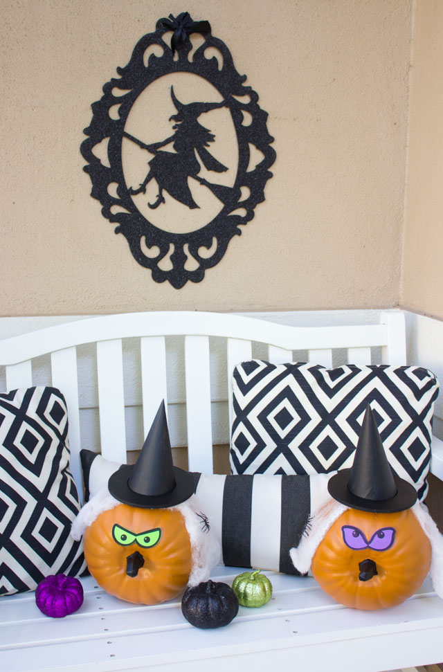 How to make witch pumpkins for Halloween! #witchpumpkin #witchpumpkins #halloweenideas