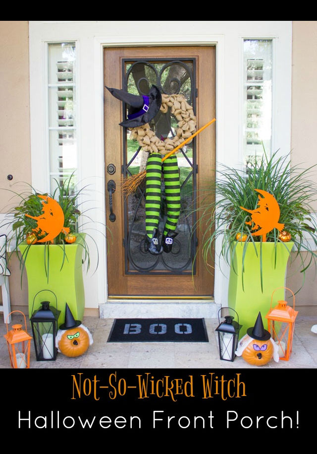 How to decorate your front porch with witches for halloween