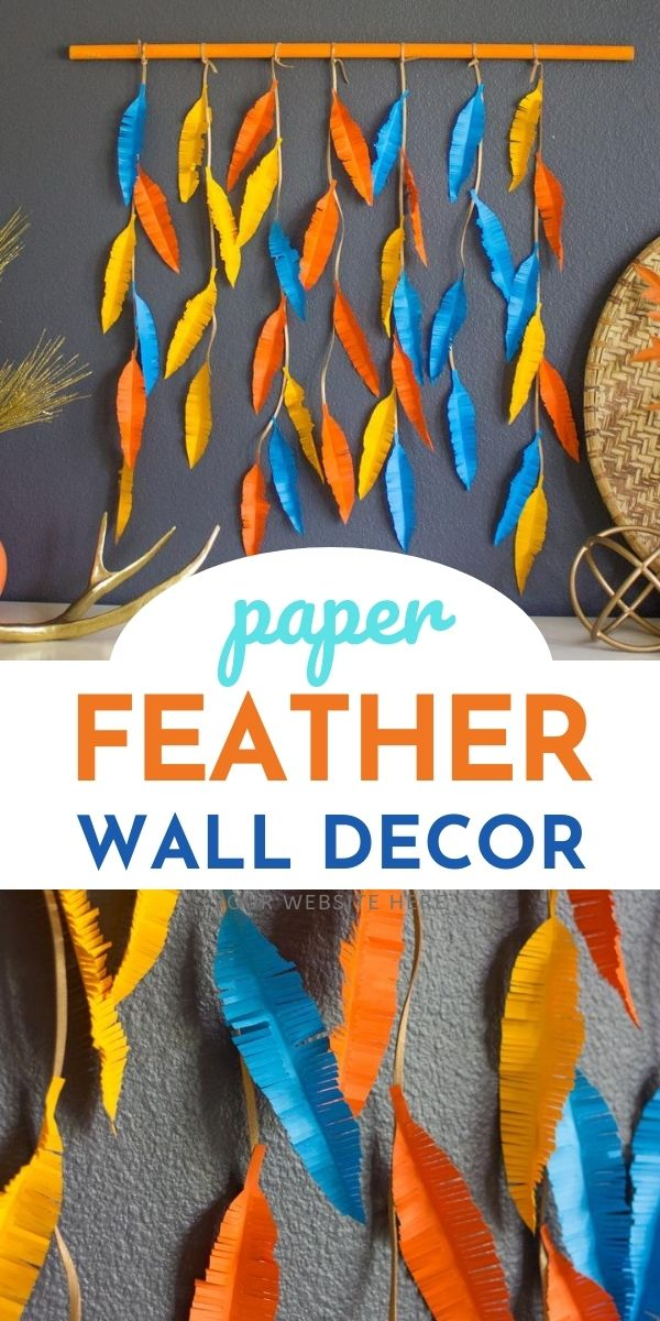 DIY Paper Feather Wall Decor