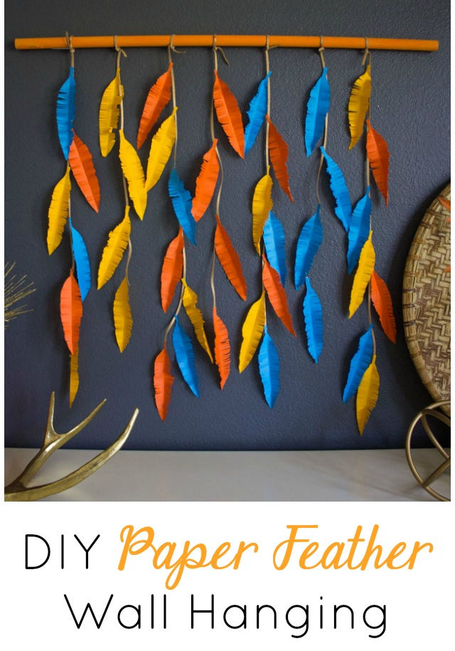 The Prettiest DIY Feather Wall Decor!
