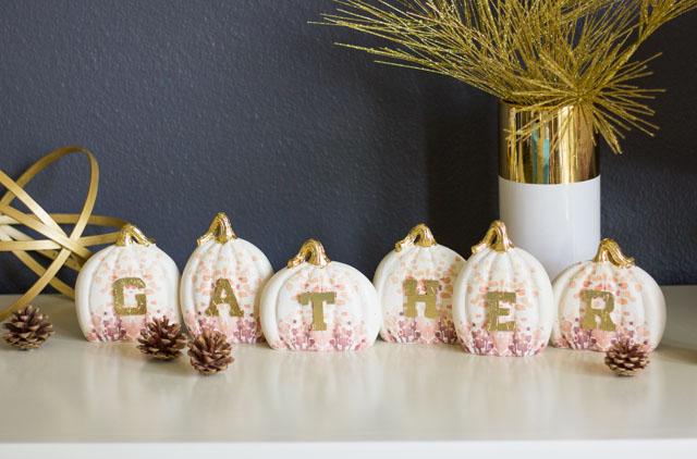 Gather ceramic pumpkin Thanksgiving decor idea #thanksgivingcenterpiece #thanksgivingdecor #thanksgivingtable #gather