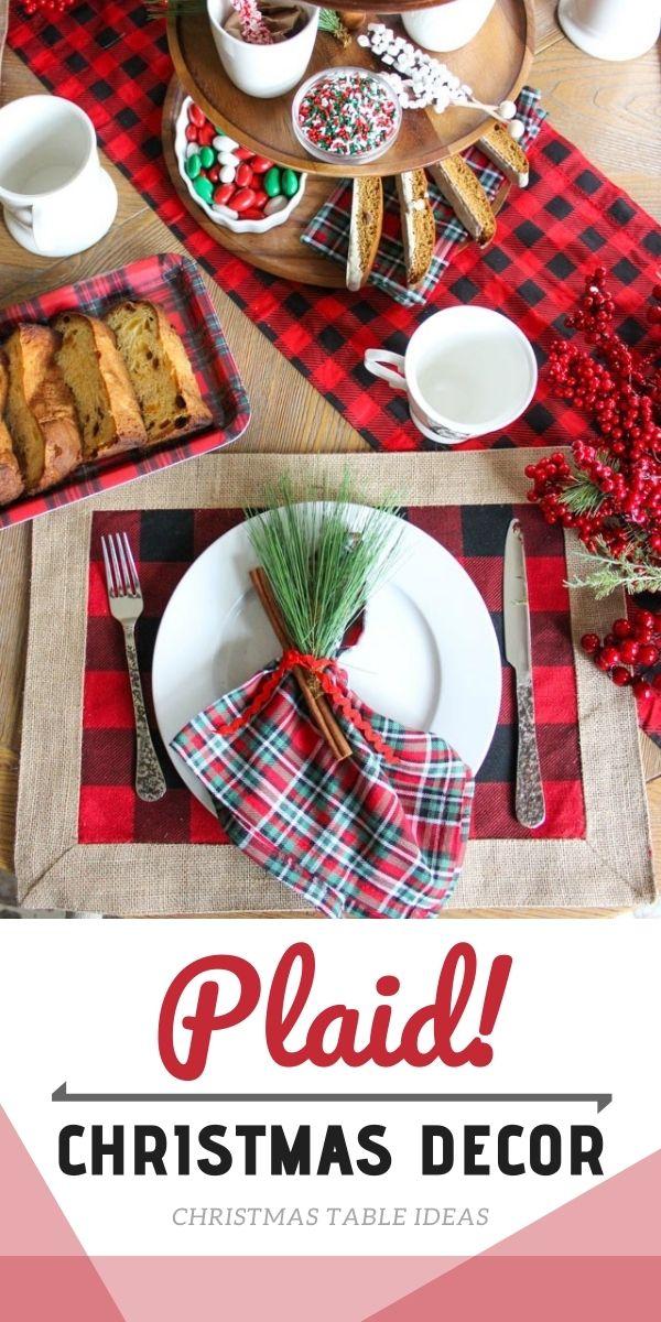 Plaid Christmas Decor Ideas for Your Christmas Dinner