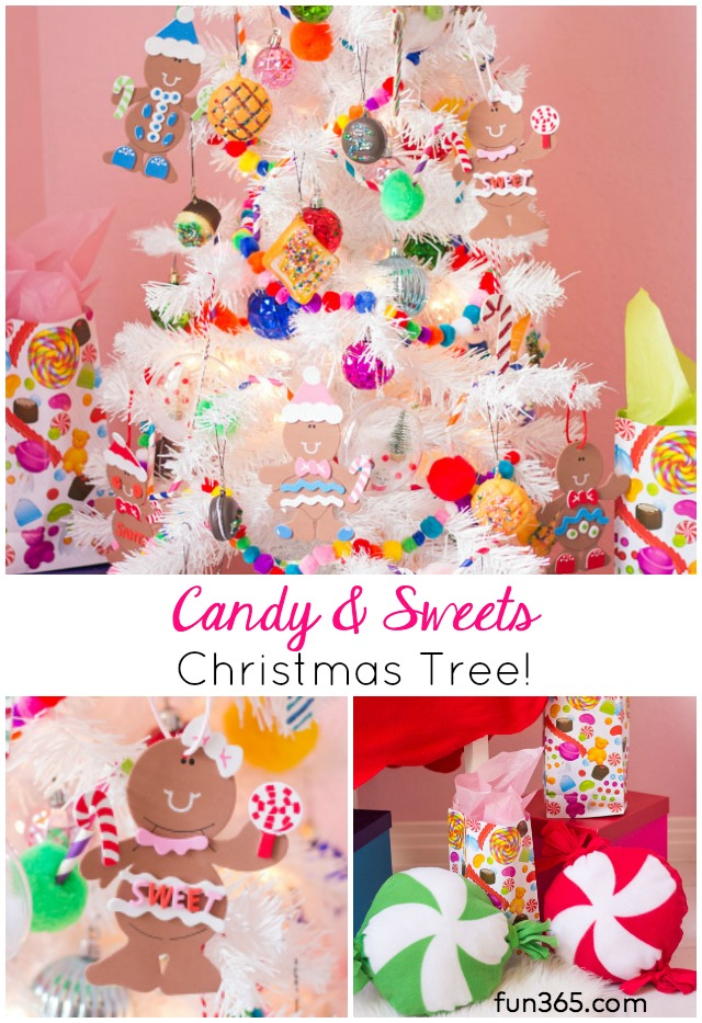 Candy Themed Christmas Decorations.Kids Week Candy Themed Christmas Tree Design Improvised