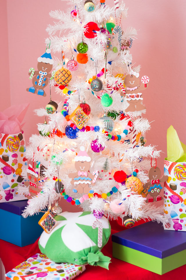 The Cutest Candy Themed Christmas Tree for Kids!
