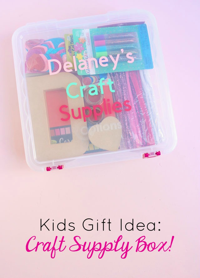 How to make a kids craft supply box