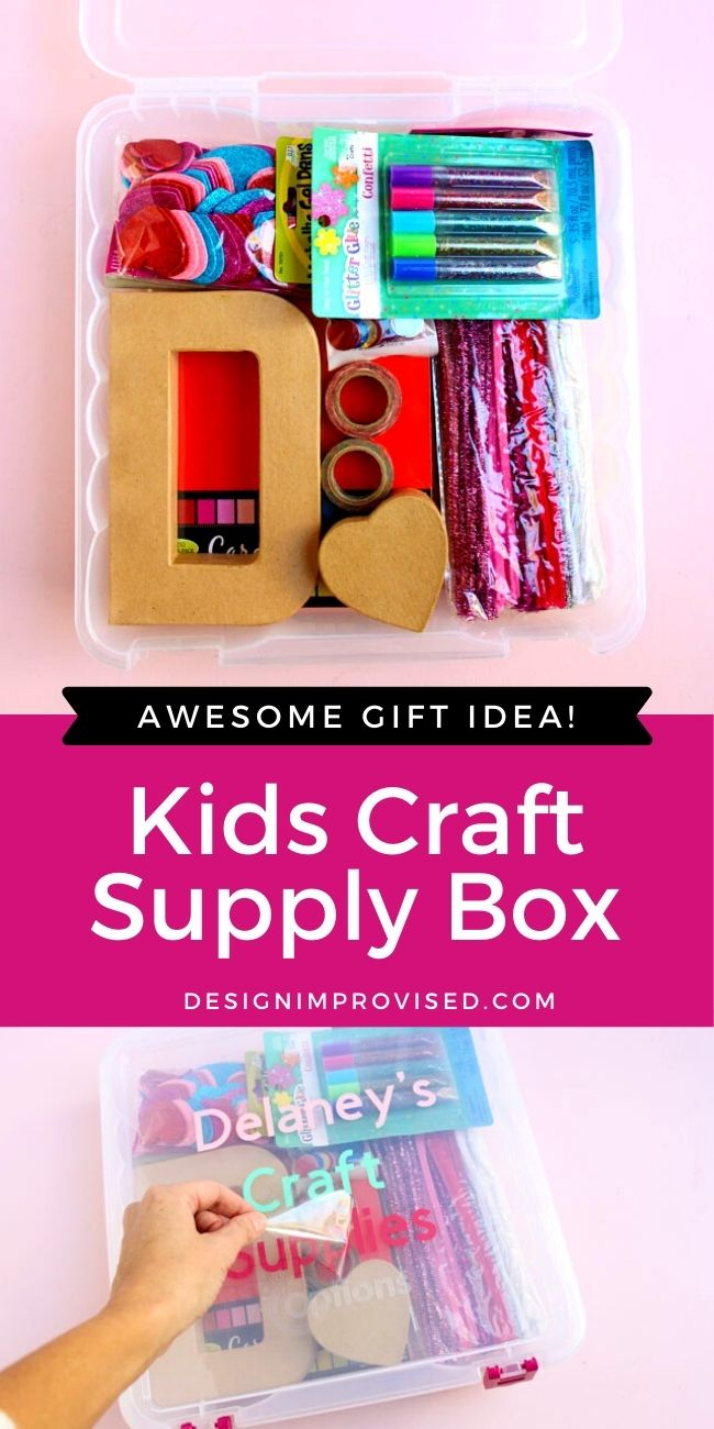 Make a personalized craft supply gift box for Christmas 2020!