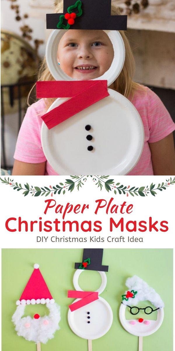 Paper Plate Christmas Masks