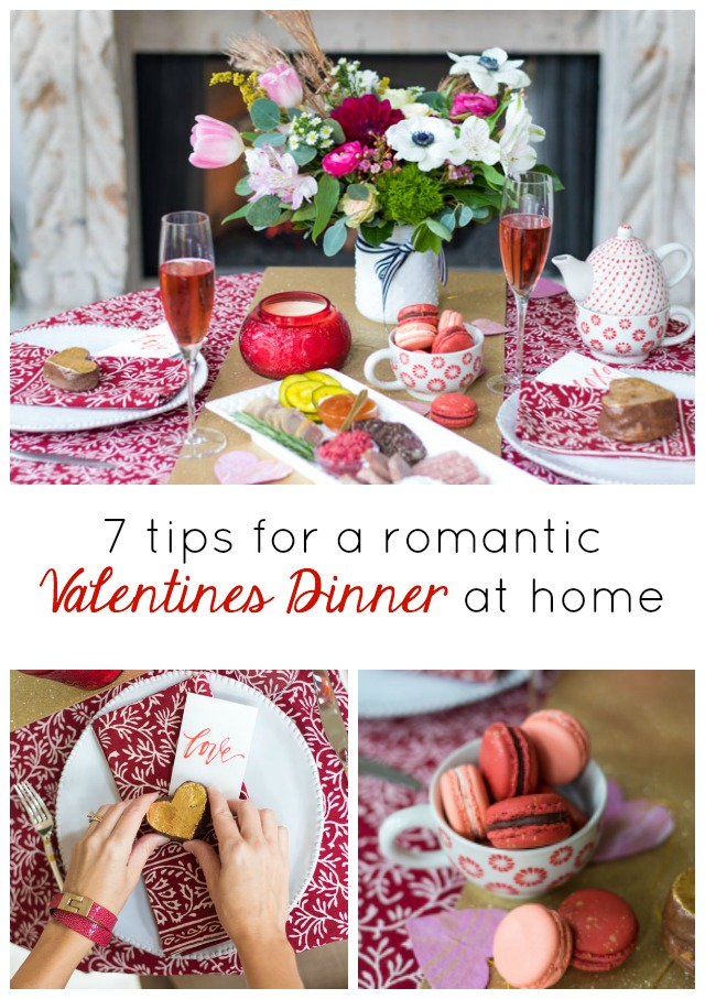 How to create a romantic Valentine's Day tablescape #valentinetable #valentinestable #valentinesdaydecor #romanticdinnerideas #valentinetableideas