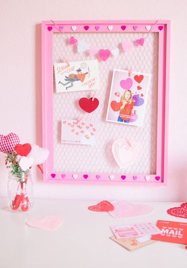 DIY Valentine Card Display