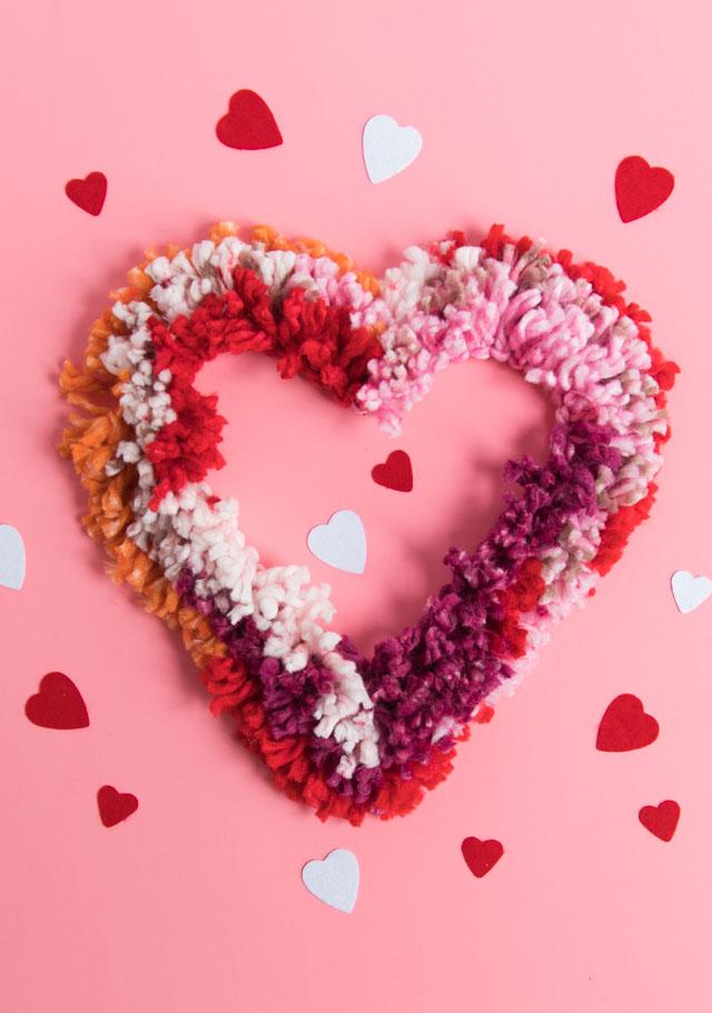 Love Week: DIY Yarn Heart Wreath