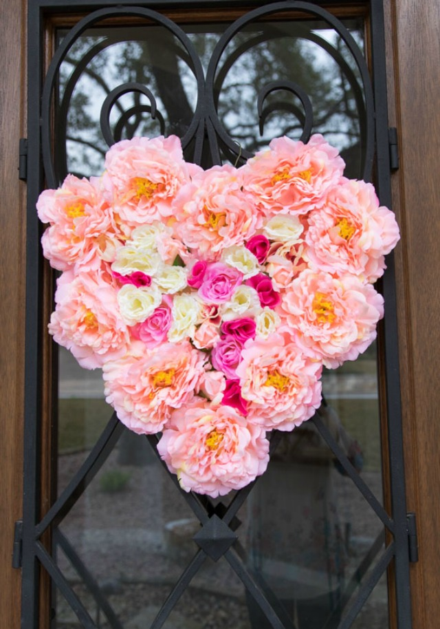 Giant Floral Heart Wreath