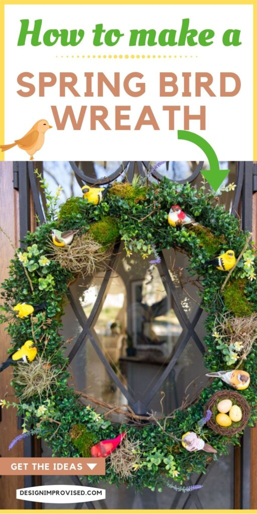 How to make a bird wreath for spring
