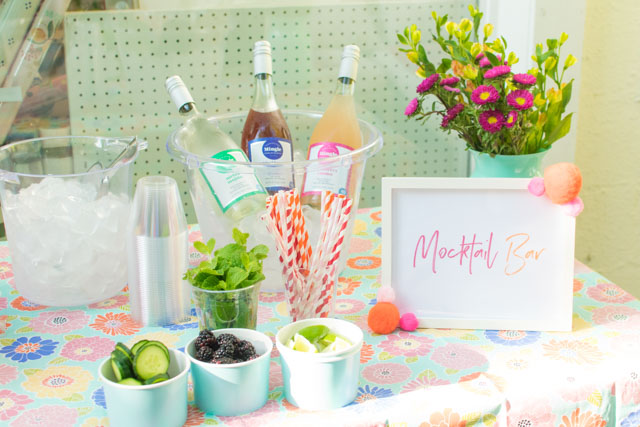 How to create a mocktail bar #mocktails #mocktailbar #mocktaideas #minglemocktails