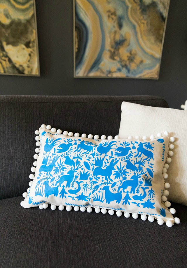 How to Make a Stenciled Otomi Pillow