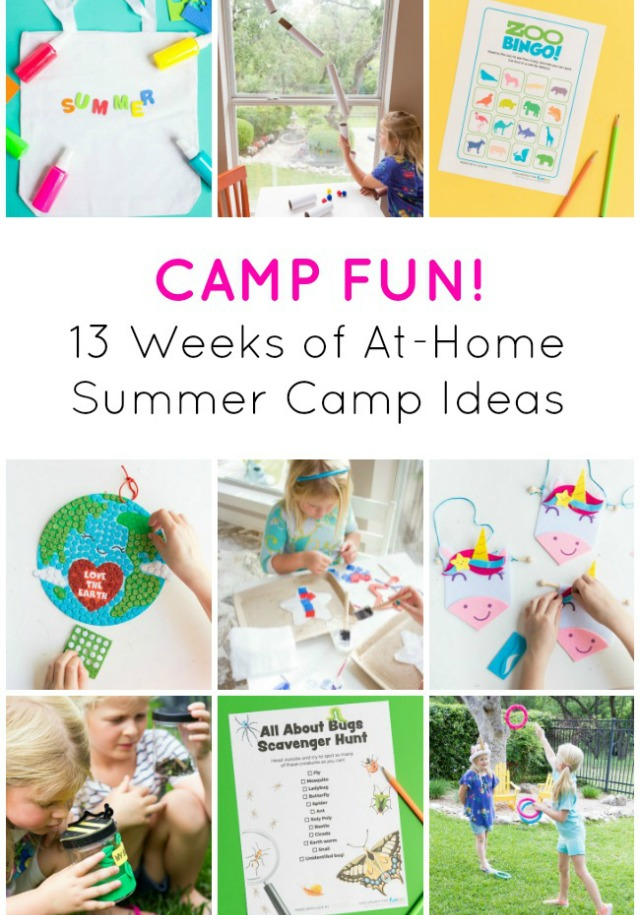 13 weeks of at-home summer camp themes