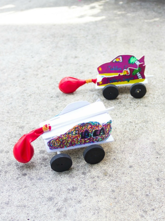 DIY balloon powered cars
