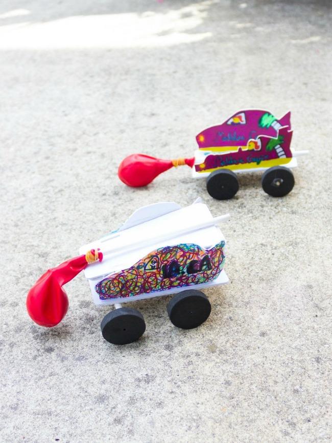 DIY balloon powered cars
