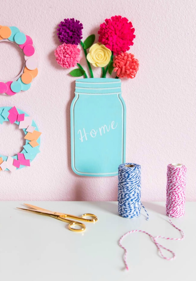 Floral Mason Jar Wall Decor