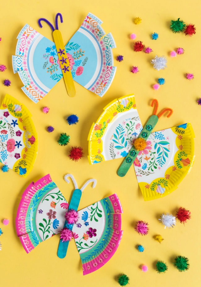 Paper Plate Butterfly Kids Craft