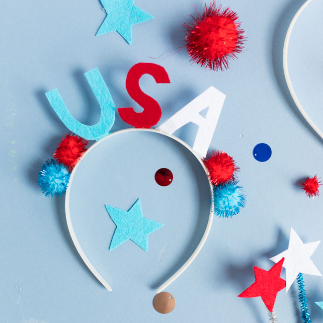 USA headband for the 4th of July